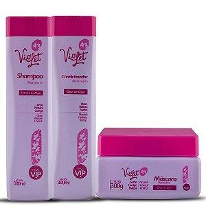 Vip Violet Kit matizador Home Care com 03 produtos New Vip Violet 43