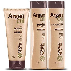 Kit Manutenção ArganOil Manutenção - Shampoo, Condicionador e Leave-in