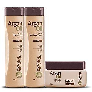 Kit Manutenção Completo Argan Oil (Shampoo, Condicionador e Máscara)