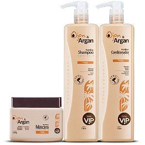 Vip Ojon e Argan Kit Nutritive Litro Profissional New Vip