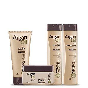 Kit Manutenção ArganOil Manutenção - Shampoo, Condicionador, Leave-in e Máscara
