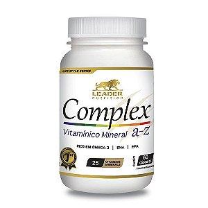 COMPLEX A-Z COM ÔMEGA 3 60 CAPS - LEADER NUTRITION