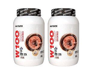 COMBO 2X W100 WHEY CONCENTRADO 900G - NUTRATA