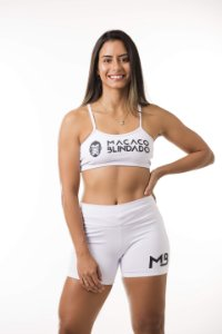 CONJUNTO TOP E SHORT BRANCO - MACACO BLINDADO