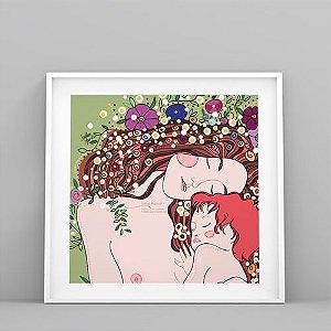 Ilustração de Mãe e Filho ou Familiar