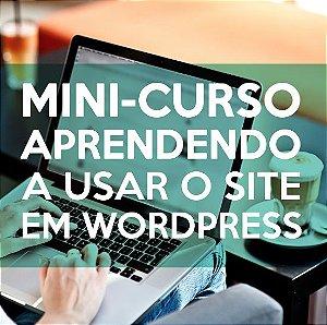MINI-CURSO: Aprendendo a usar o Site em Wordpress
