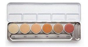 Paleta Corretivo Kryolan - 06 cores