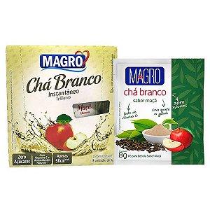 Chá Branco Instantâneo sabor Maçã Magro Caixa 15 un