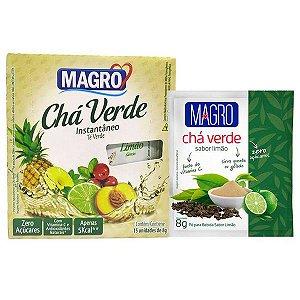 Chá Verde Instantâneo sabor Limão Magro Caixa 15 un