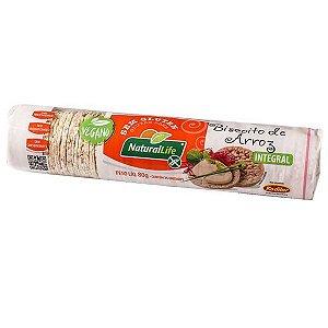 Biscoito de Arroz Integral Natural Life 80g