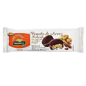 Biscoito de Arroz Recheado Amendoim Natural Life 40g