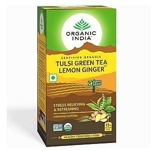 Chá Tulsi Lemon Ginger Sachês Organic India