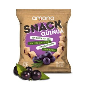 Snack de Quinoa com Açaí Amana 40g