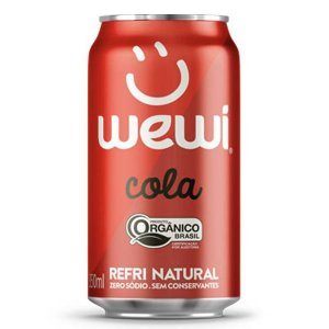 Refrigerante Orgânico Cola Wewi Lata 350ml
