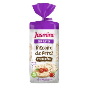 Biscoito de Arroz Multigrãos Sem Glúten Jasmine 90g