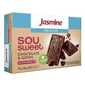 Biscoitos Sou Sweet Gotas Chocolate Jasmine 90g