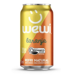 Refrigerante Orgânico Laranja Wewi Lata 350ml