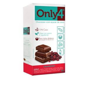 Chocolate Only4 Cranberry - Caixa com 6 Tabletes de 80g