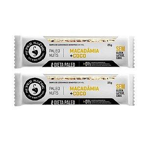 Barra de Nuts Paleo Macadâmia + Coco - 2 unidades
