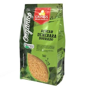 Açúcar Demerara Dourado Orgânico Grings 500g