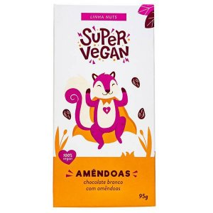 Chocolate Branco com Amêndoas Super Vegan 95g