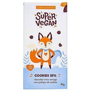 Chocolate Meio Amargo com Cookies 55% Super Vegan 95g