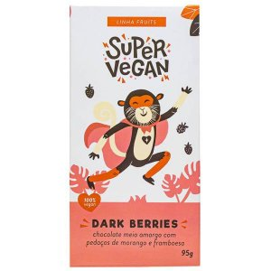 Chocolate Meio Amargo Dark Berries Super Vegan 95g