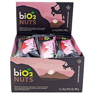 Barra Nuts Cranberry e Limão Bio2 Caixa 12 un