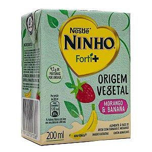 Bebida Vegetal Ninho Forti+ Morango e Banana Nestlé 200ml
