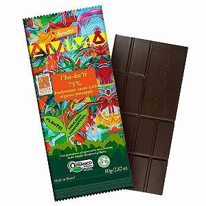 Chocolate Orgânico 75% Cacau Ibakati AMMA Caixa 6 un