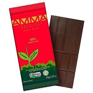 Chocolate Orgânico 60% Cacau AMMA Caixa 6 un