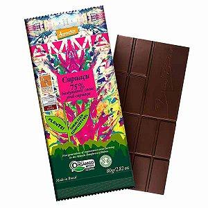 Chocolate Orgânico 75% Cacau com Cupuaçu AMMA Caixa 6 un