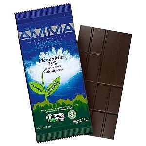 Chocolate Orgânico 75% Cacau com Flor de Sal AMMA Caixa 6 un