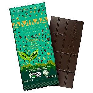Chocolate Orgânico 75% Cacau Nibirus AMMA Caixa 6 un