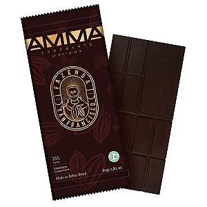 Chocolate Orgânico 75% Cacau Fazenda São Francisco AMMA Caixa 6 un