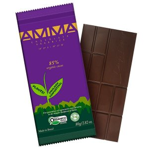 Chocolate Orgânico 85% Cacau AMMA Caixa 6 un