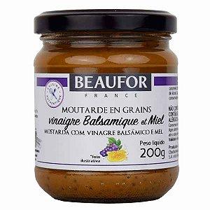 Mostarda Dijon com Balsâmico e Mel Beaufor 200g