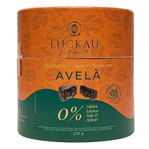 Bombom Chocolate 50% com Avelã Zero Luckau 200g