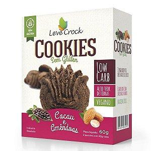 Cookies de Cacau e Amêndoas Low Carb Leve Crock 60g