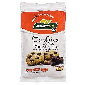 Cookies Baunilha com Gotas de Chocolate Natural Life 180g