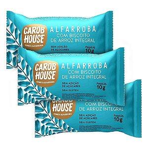 Biscoitos de Arroz com Alfarroba Carob House 3 un x 10g