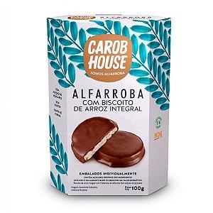 Biscoito de Arroz Integral com Cobertura de Alfarroba