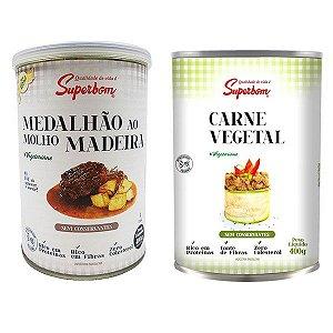 Medalhão Molho Madeira + Carne Vegetal