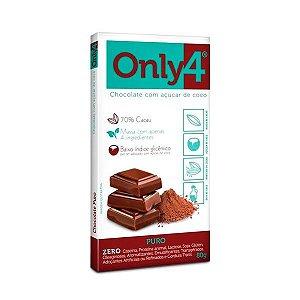 Tablete Chocolate Only4 70% Cacau Puro