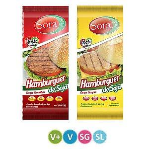Hambúrguer de Soja Carne Vermelha + Carne Branca