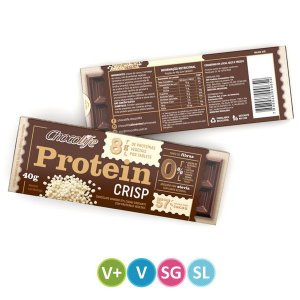 Tablete de Proteína Vegetal Crisp Chocolife 40g