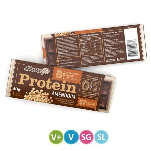 Tablete de Proteína Vegetal Amendoim Chocolife 40g