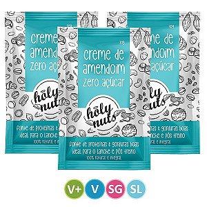 Creme de Amendoim Zero Açúcar Holy Nuts - Sachê 3 unidades