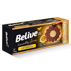 Biscoitos Finos Sem Glúten sabor Chocolate com Maracujá