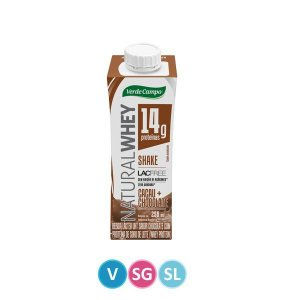Shake Natural Whey sabor Cacau e Chocolate